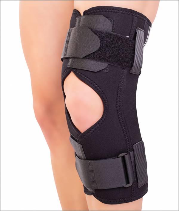 Orteză de genunchi mobilă cu articulaţii laterale