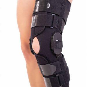 Orteză de genunchi mobilă cu articulaţii reglabile - 1