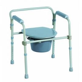 Scaun Toaleta Din Aluminiu Ajustabil, Argintiu - 1